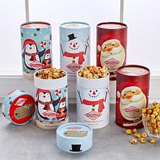 Popsalot 6-pc Holiday 6 oz. Gourmet Popcorn Buckets - Rec. in December