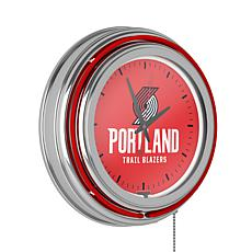Portland Trail Blazers Double Ring Neon Clock