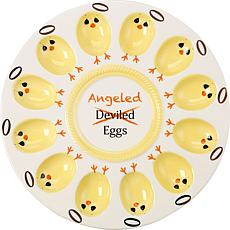 Precious Moments 189015 Deviled/Angeled Egg Platter