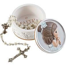 Precious Moments 202428 First Communion Girl Rosary Box