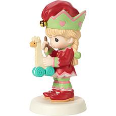 Precious Moments 4th Annual Elf Bisque Porcelain Figurine with Llama