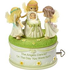 """Precious Moments """"Angels Danced on the Day You Were Born"""" Music Box"""