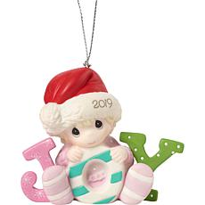 "Precious Moments ""Baby's First Christmas"" 2019 Girl Ornament"