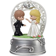 """Precious Moments """"First Dance as Mr. and Mrs."""" Music Box"""