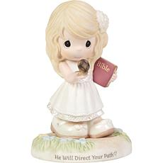Precious Moments He Will Direct Your Path Bisque Porcelain Figurine
