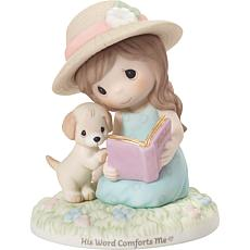 Precious Moments His Word Comforts Me Bisque Porcelain Figurine