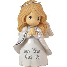 "Precious Moments ""Love Never Gives Up"" Angel Figurine"