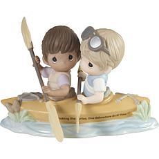 Precious Moments Making Memories Couple Kayaking Porcelain Figurine