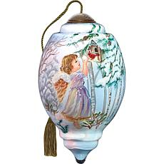 Precious Moments Ne'Qwa Art Blown Glass Angel Ornament