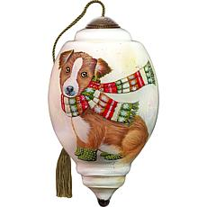 Precious Moments Ne'Qwa Art Blown Glass Dog Ornament
