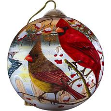 Precious Moments Ne'Qwa Art Blown Glass Peace on Earth Ornament