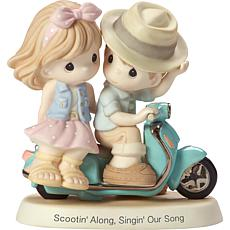 """Precious Moments """"Scootin' Along Singing Our Song"""" Couple Figurine"""