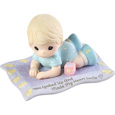 Precious Moments You Made My Heart Smile Baby Bisque Porcelain Figure