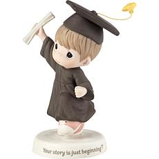 PreciousMoments Your Story Is Just Beginning Bisque Porcelain Figurine
