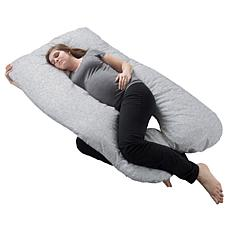 Pregnancy Pillow Full-Body Maternity Pillow w/Removable Cover - Gray