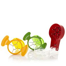 Prep Solutions 3pc Cherry Pitter & Apple & Peach Popout