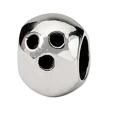 Prerogatives Sterling Silver Bowling Ball Bead