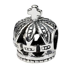 Prerogatives Sterling Silver Crown Bead