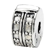 Prerogatives Sterling Silver Dotted Clip Bead