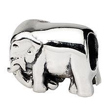 Prerogatives Sterling Silver Elephant Bead