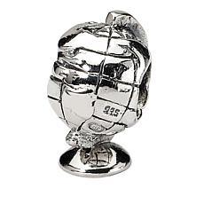 Prerogatives Sterling Silver Globe Bead