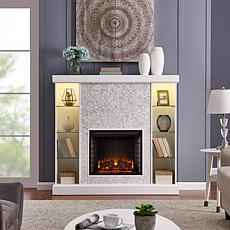 Preston Mosaic Tiled Curio Fireplace