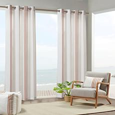 "Print Stripe 3M Scotchgard Curtain Coral/White 54""x95"""