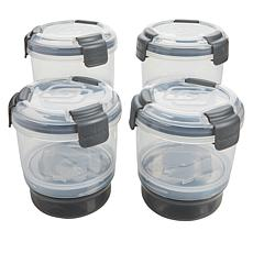 Progressive Snaplock 4-pack 2-in-1 To-Go Snack Containers