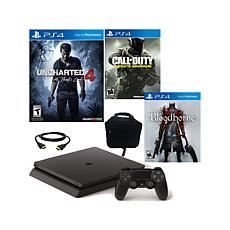 "PS4 Slim w/""Uncharted 4,"" ""Bloodborne"" & ""COD Infinite"""