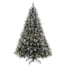 Puleo 7-1/2 ft. Fiber Optic Premium Winter Wonderland Christmas Tree