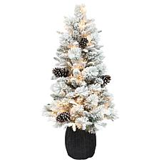Puleo International 3.5' Flocked Potted Artificial Christmas Tree