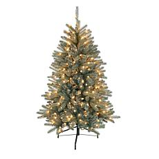 Puleo International 4.5' Pre-Lit Blue Mountain Fir Christmas Tree