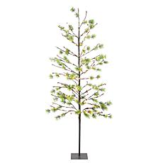 Puleo International 6' Red Berry Led  Tree w/240 White Twinkle Light