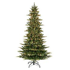 Puleo International 6.5' Pre-Lit Slim Aspen Fir  Christmas Tree