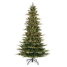 Puleo International 6.5' Pre-Lit Slim Aspen Fir  Christmas Tree