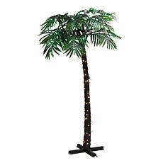 Puleo International 8' Pre-Lit Palm Tree