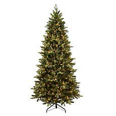 Puleo Intl. PreLit 7.5' Slim Westford Spruce Artificial Christmas Tree