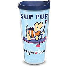 Puppie Love Sup Pup 24 oz Tumbler with lid