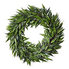 "Pure Garden 22"" Indoor Artificial Microphylla Leaf Wreath"