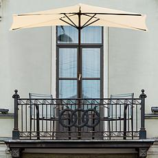 Pure Garden 9' Half-Round Patio Umbrella