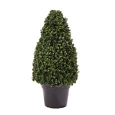 "Pure Garden Artificial Boxwood Tower Topiary 36"" Faux Plant"