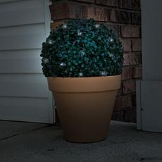 Pure Garden Solar-Powered Topiary Light Ball with White LED Lights