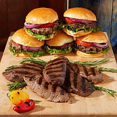 Pureland Meat Co Angus Beef Steak and Burger Combo 36-pack