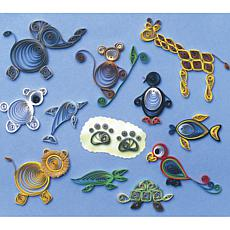 Quilled Creations Quilling Kit - Zoo Animals