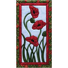 Quilt Magic No Sew Wall Hanging Kit - Trio of Poppies