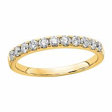 Radiant Fire 14K Gold .50ctw Lab-Grown Diamond Round  Wedding  Ring