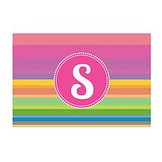 Rainbow Stripes Personalized Doormat
