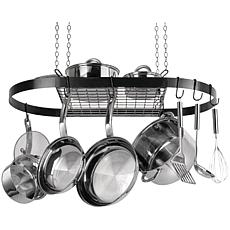 Range Kleen Hanging Oval Pot Rack - Black