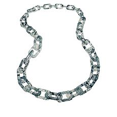 "Rara Avis by Iris Apfel 19"" Animal Print Link Necklace"
