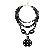 "Rara Avis by Iris Apfel 27"" 3-Row Scroll Drop Necklace"